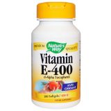 Nature's Way Vitamin E-400, 400 IU 100 Softgels