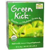 Now Foods Real Tea Green Kick - Sencha and Matcha Green Tea