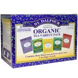 St. Dalfour Organic Tea Variety of 25 Packs of Tea Bags