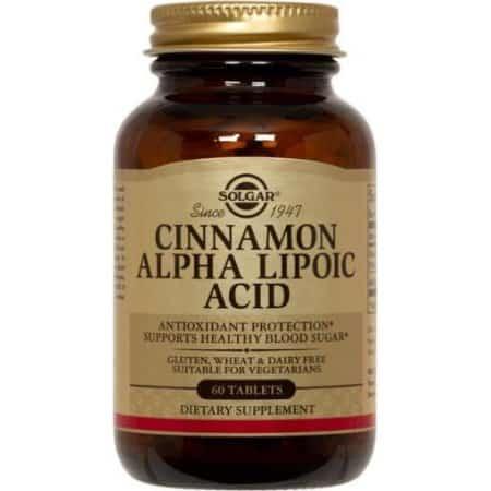 6. Solgar Cinnamon Alpha-Lipoic Acid