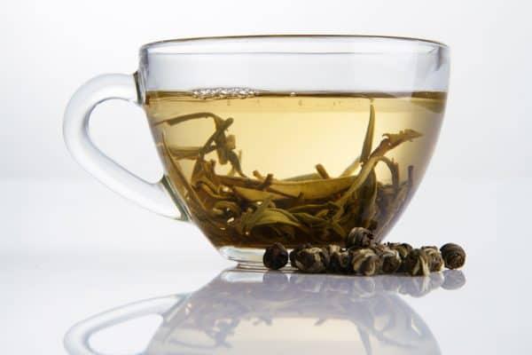 drinking white tea