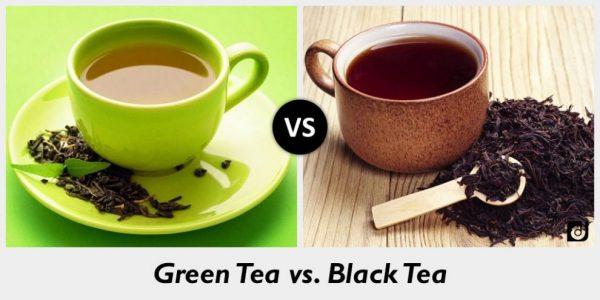 green tea vs vlack tea