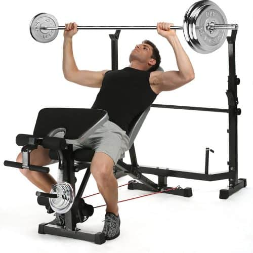 small rack squat bench with walmart ip com workout gold gym olympic s xrs weight