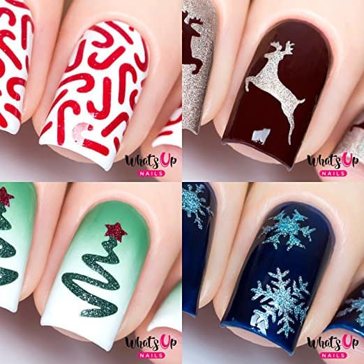 7. What Up Christmas Nail Stencils