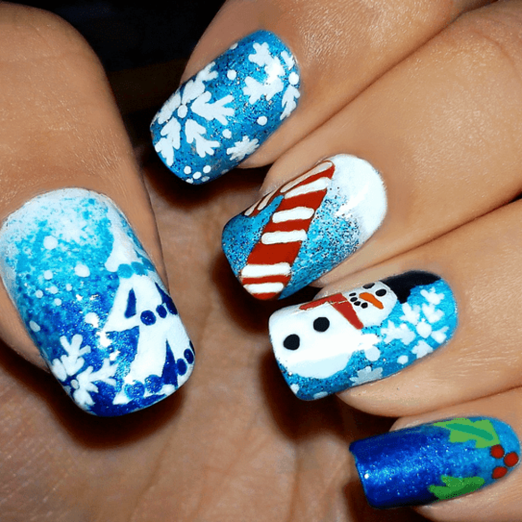 Best Christmas Nail Art Reviewed And Rated in 2018 | TheFitBay