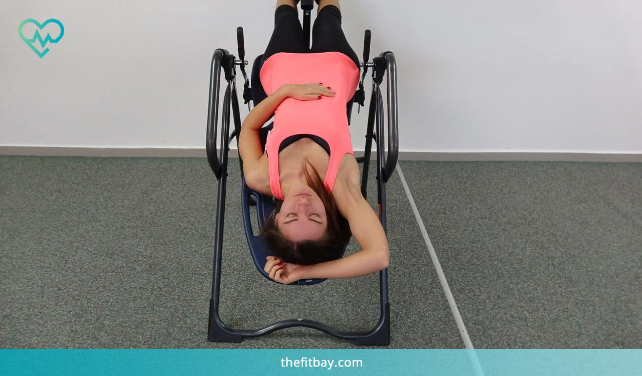 Inversion Table Exercise: Diaphragmatic Breathing