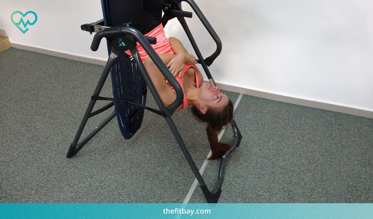 Inversion Table Exercise: Crunches