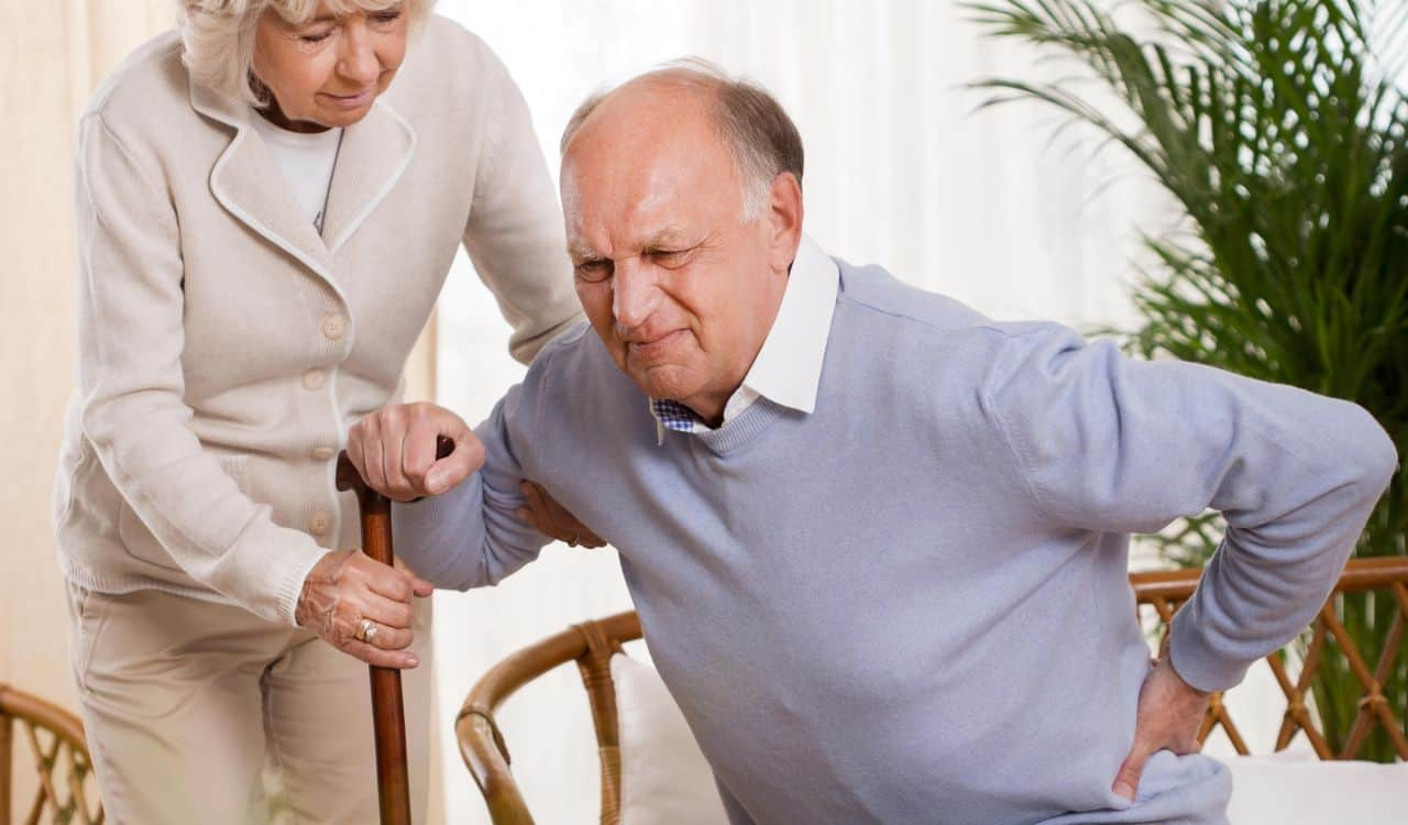Old Man Has Back Pain