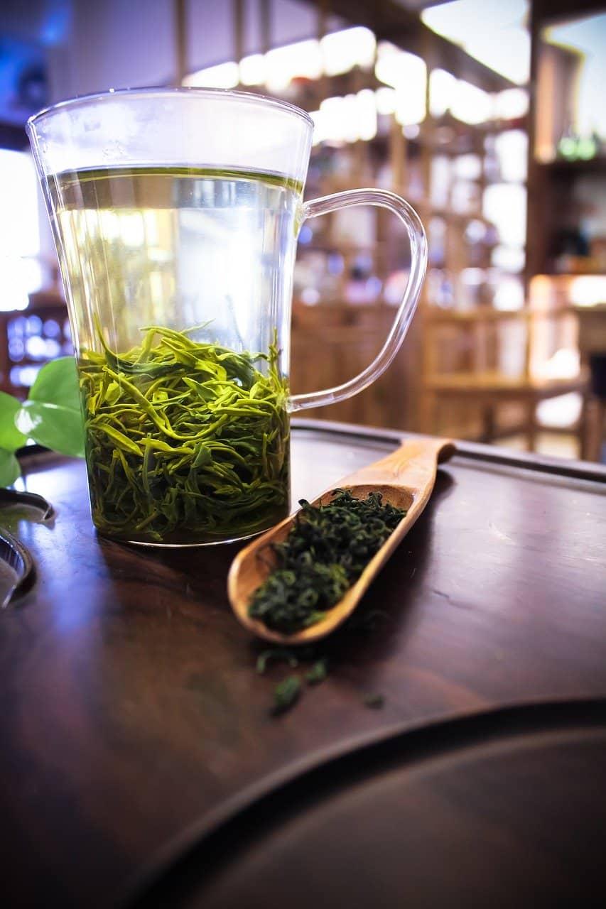 green tea setup