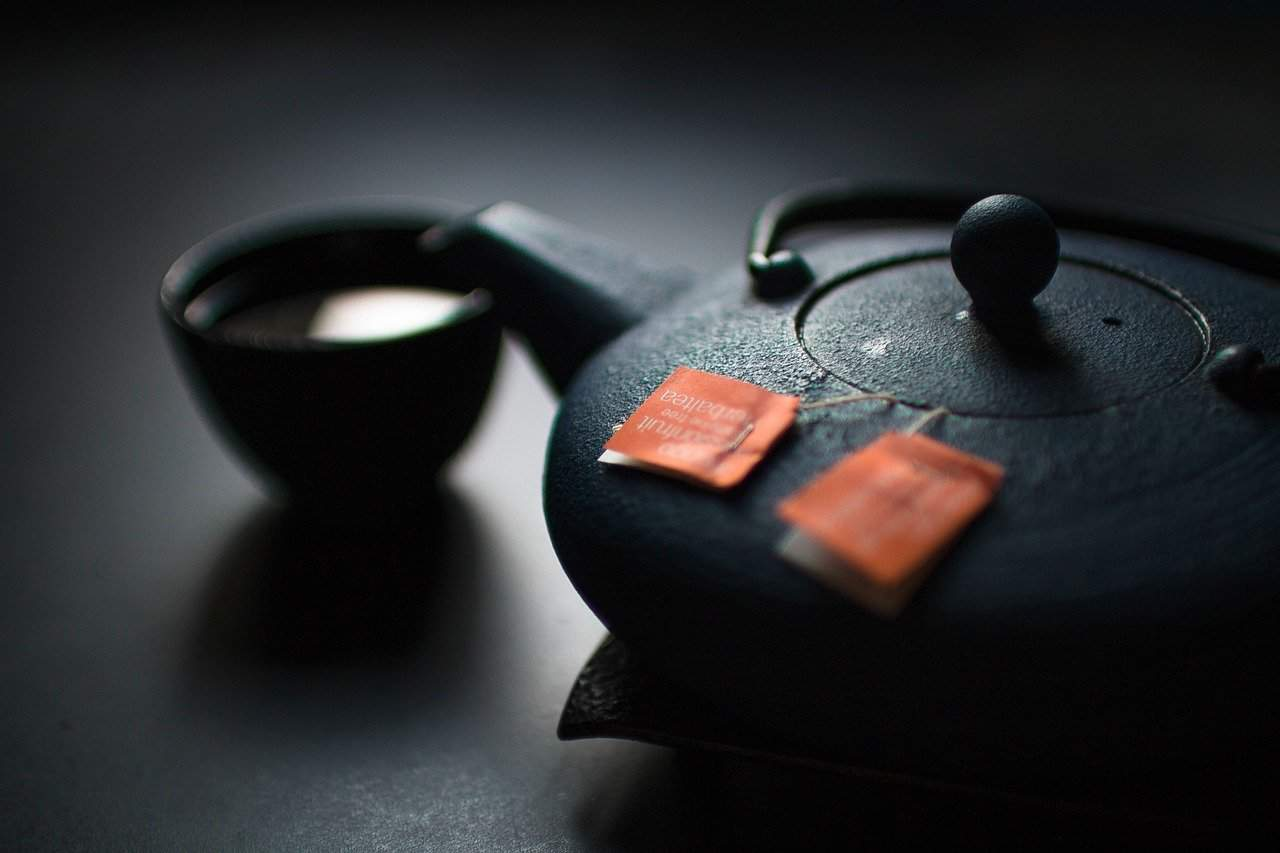 Japanese tea kettle black