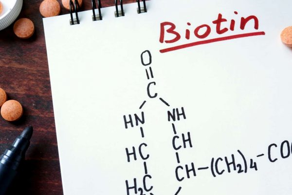 Biotin Chemical Structure and Pills
