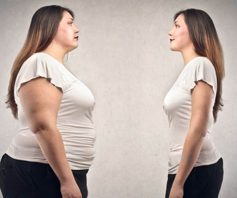 Same Woman Obese and Slim
