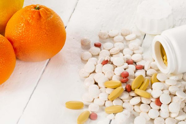 Citrus Fruits And Folate Pills