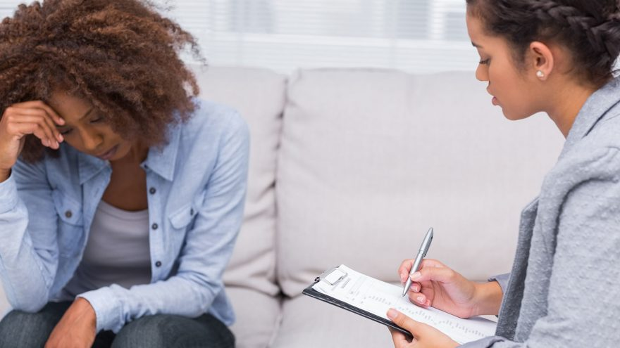woman with therapist