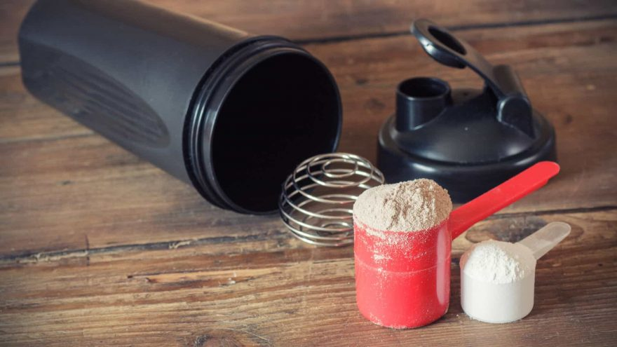Protein Powders and Plastic Shaker