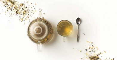 White Tea Cup and Kettle