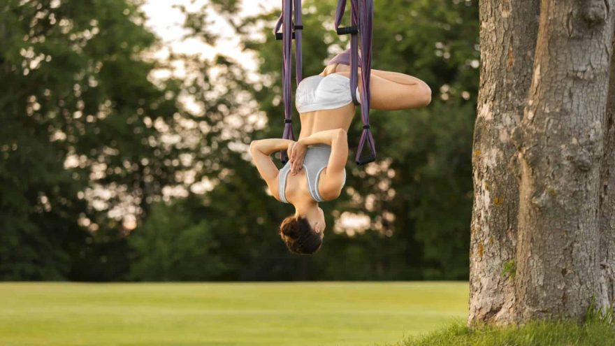 Woman Inverting Inversion Swing