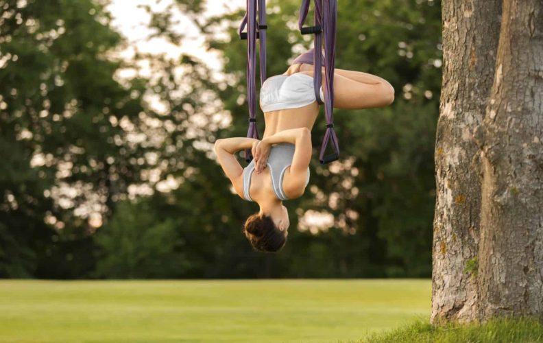 Woman Inverting Inversion Swing