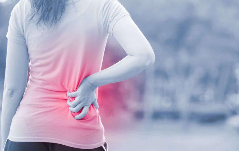 Woman Suffer Back Pain